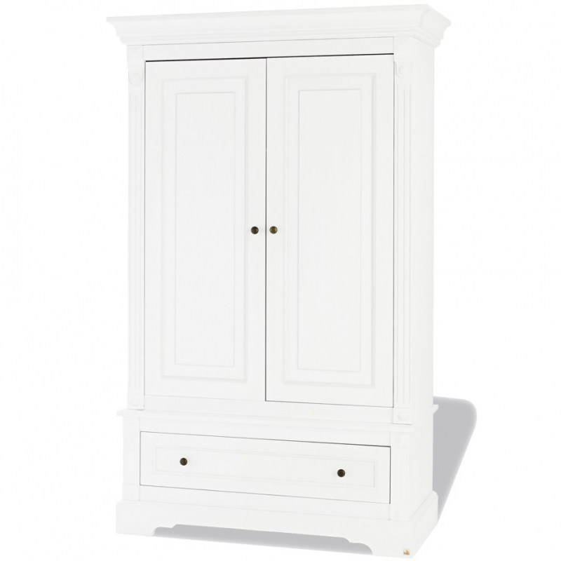 armoire blanche laqu e 2 portes emilia pinolino 143467. Black Bedroom Furniture Sets. Home Design Ideas