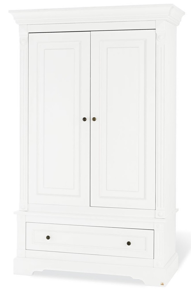 armoire chambre 2 portes bois laqu mat blanc emilia. Black Bedroom Furniture Sets. Home Design Ideas