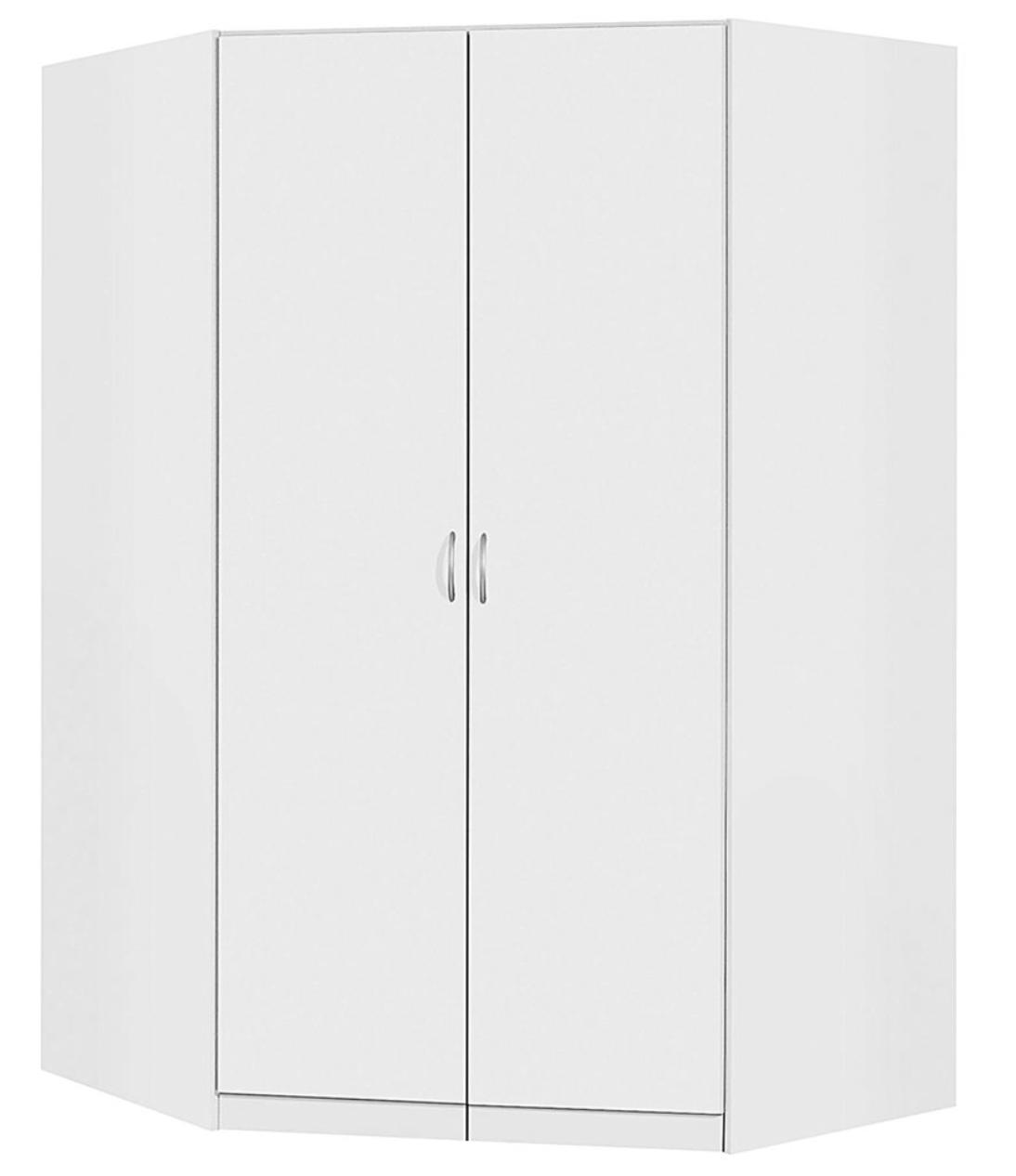 armoire d 39 angle blanche 2 portes battantes kaze. Black Bedroom Furniture Sets. Home Design Ideas