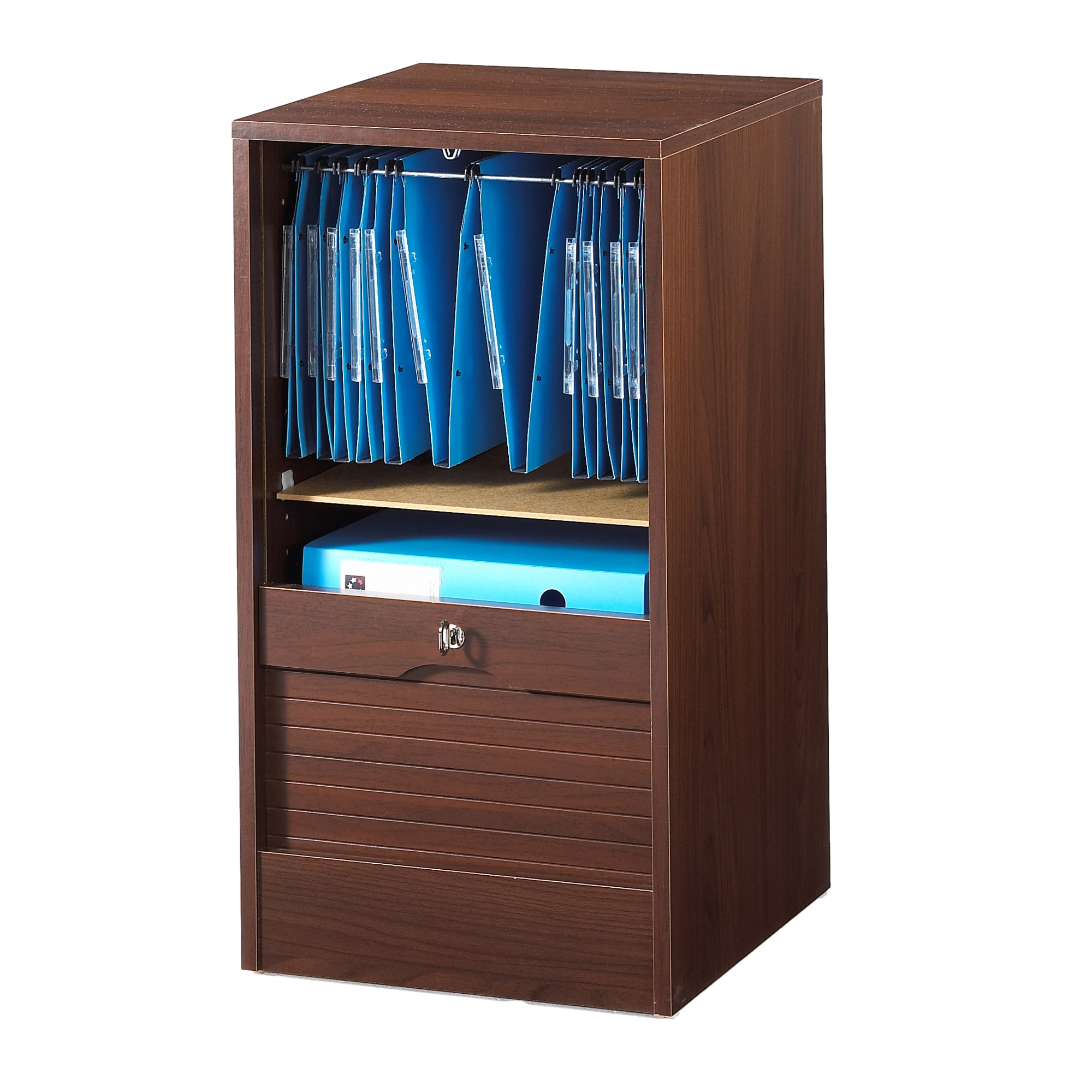 armoire de bureau rideau bois weng matha 80. Black Bedroom Furniture Sets. Home Design Ideas