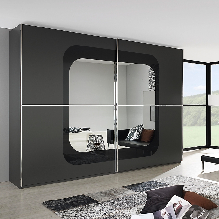 armoire design noir cubike longueur 226 cm. Black Bedroom Furniture Sets. Home Design Ideas