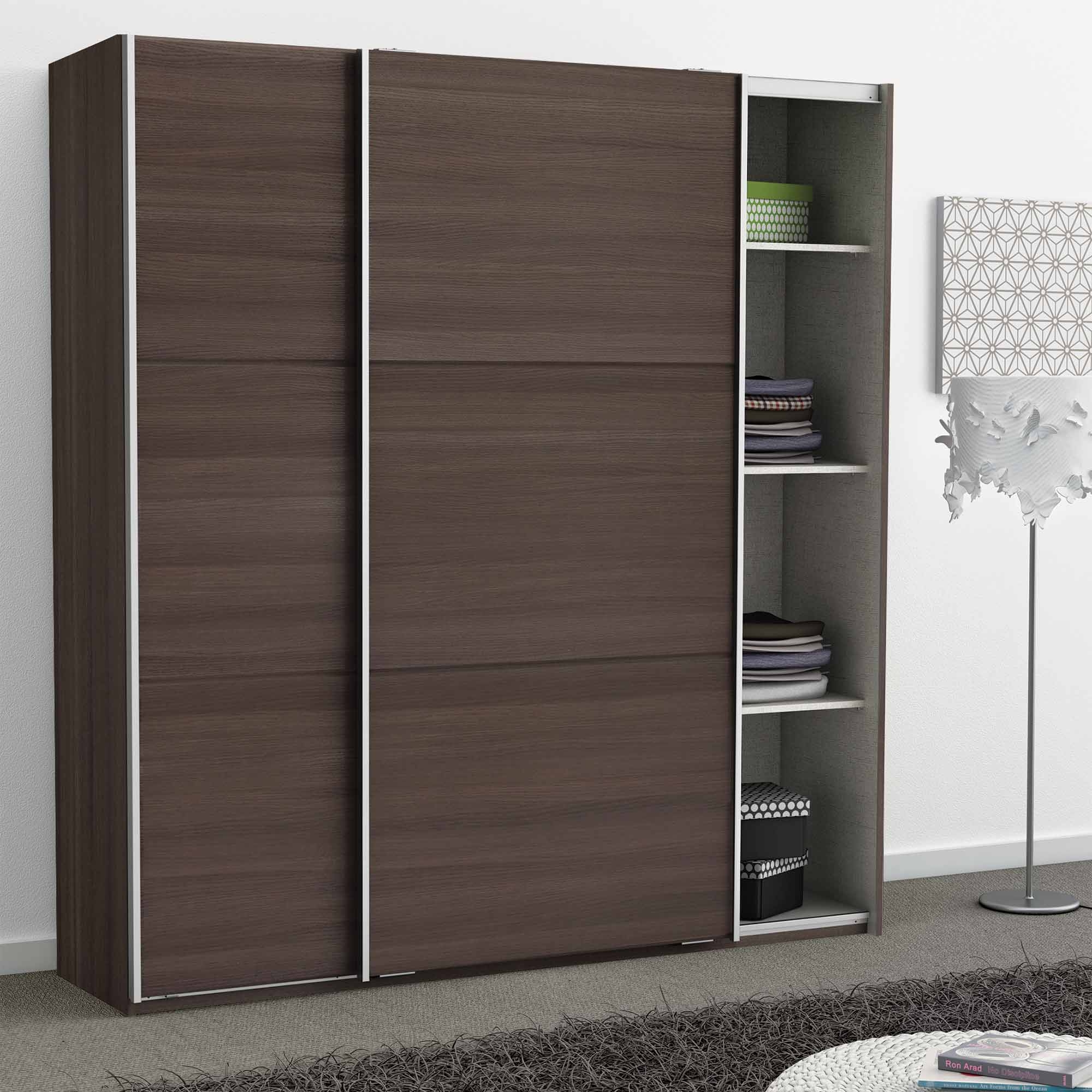 armoire en bois vulcano 2 portes coulissantes stella. Black Bedroom Furniture Sets. Home Design Ideas