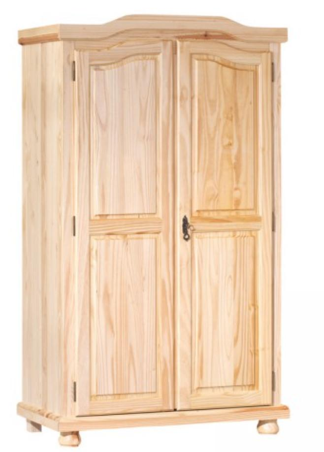 armoire 2 portes pin massif vernis naturel naturalia. Black Bedroom Furniture Sets. Home Design Ideas