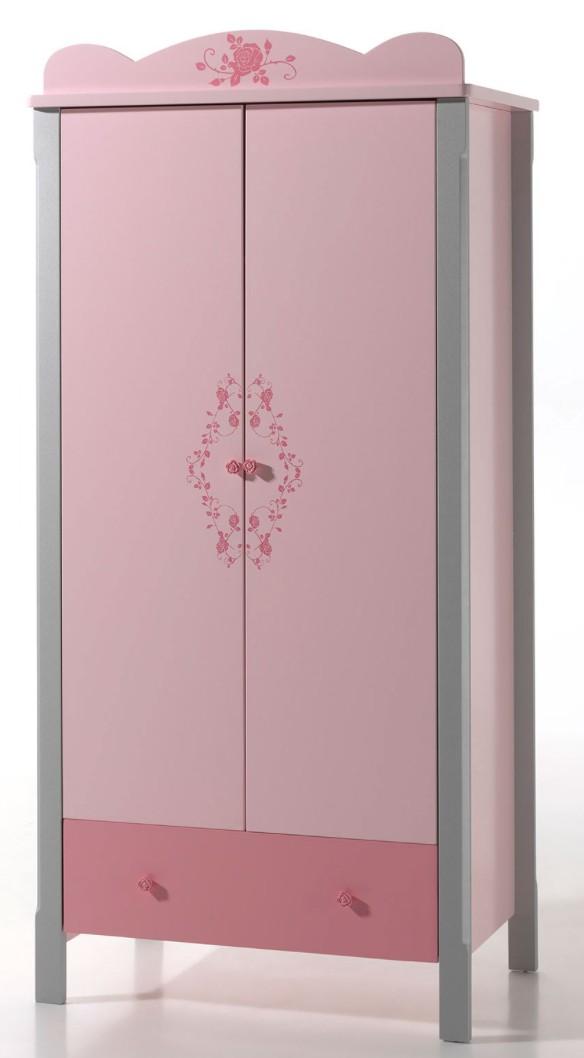 armoire gris et rose girly. Black Bedroom Furniture Sets. Home Design Ideas