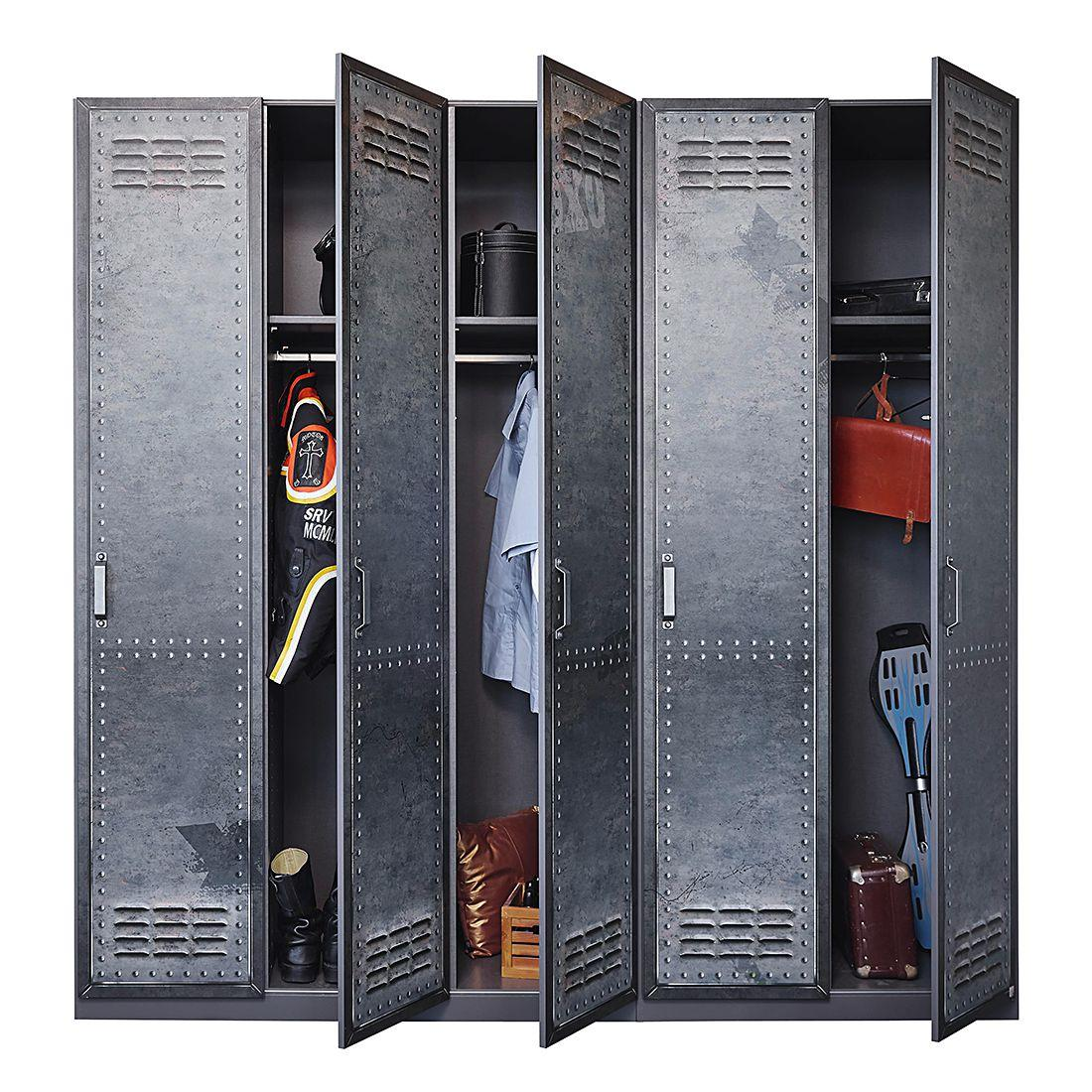 armoire style industriel graphite work longueur 91 cm. Black Bedroom Furniture Sets. Home Design Ideas