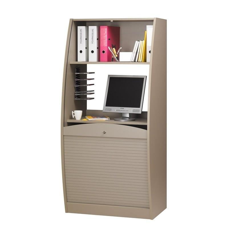 Armoire informatique taupe 80 cm - Bureau armoire informatique ...