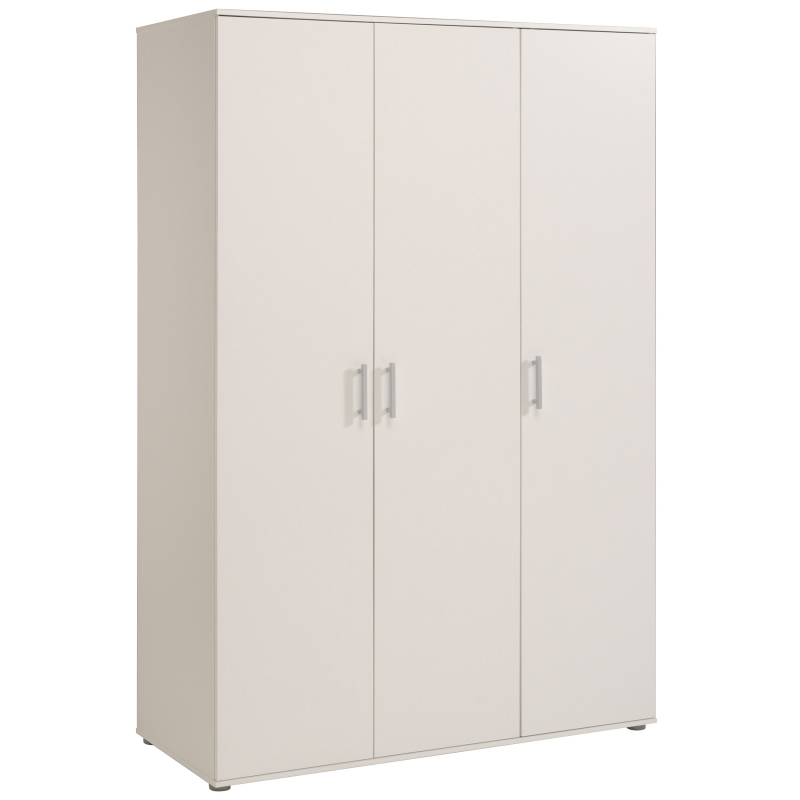 armoire 3 portes blanche sina. Black Bedroom Furniture Sets. Home Design Ideas