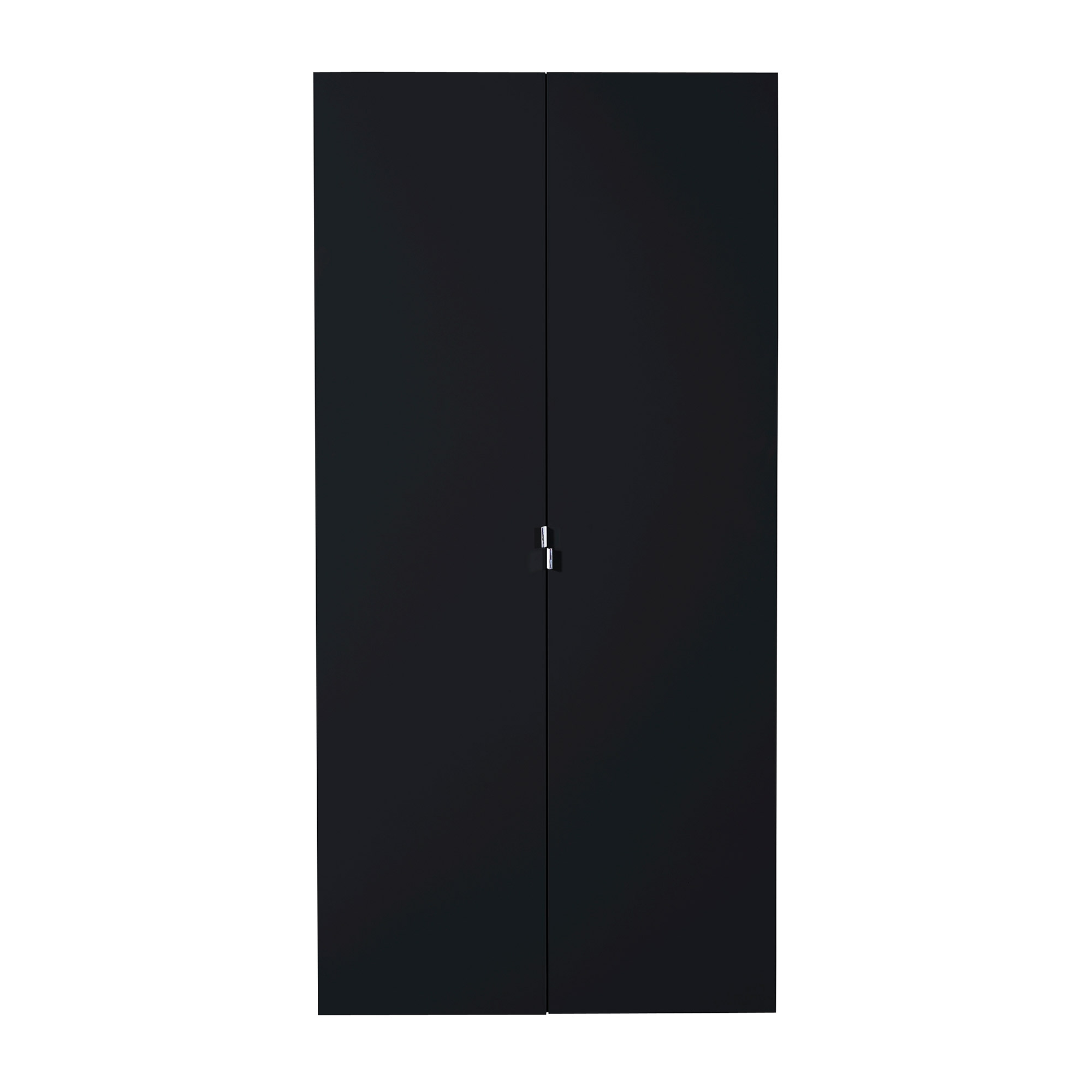 armoire laqu e noir 2 portes first. Black Bedroom Furniture Sets. Home Design Ideas