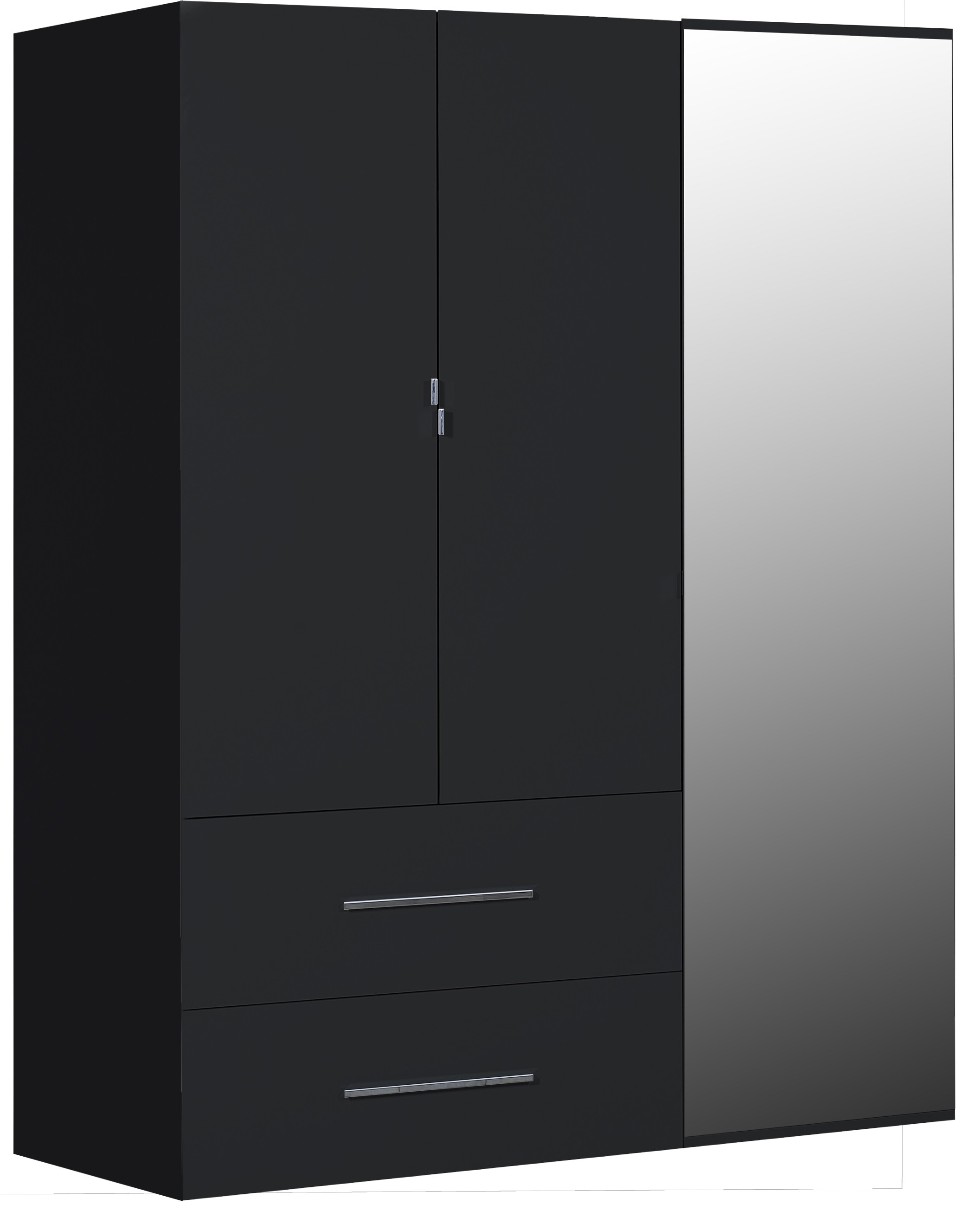 armoire laqu e noir 3 portes best. Black Bedroom Furniture Sets. Home Design Ideas