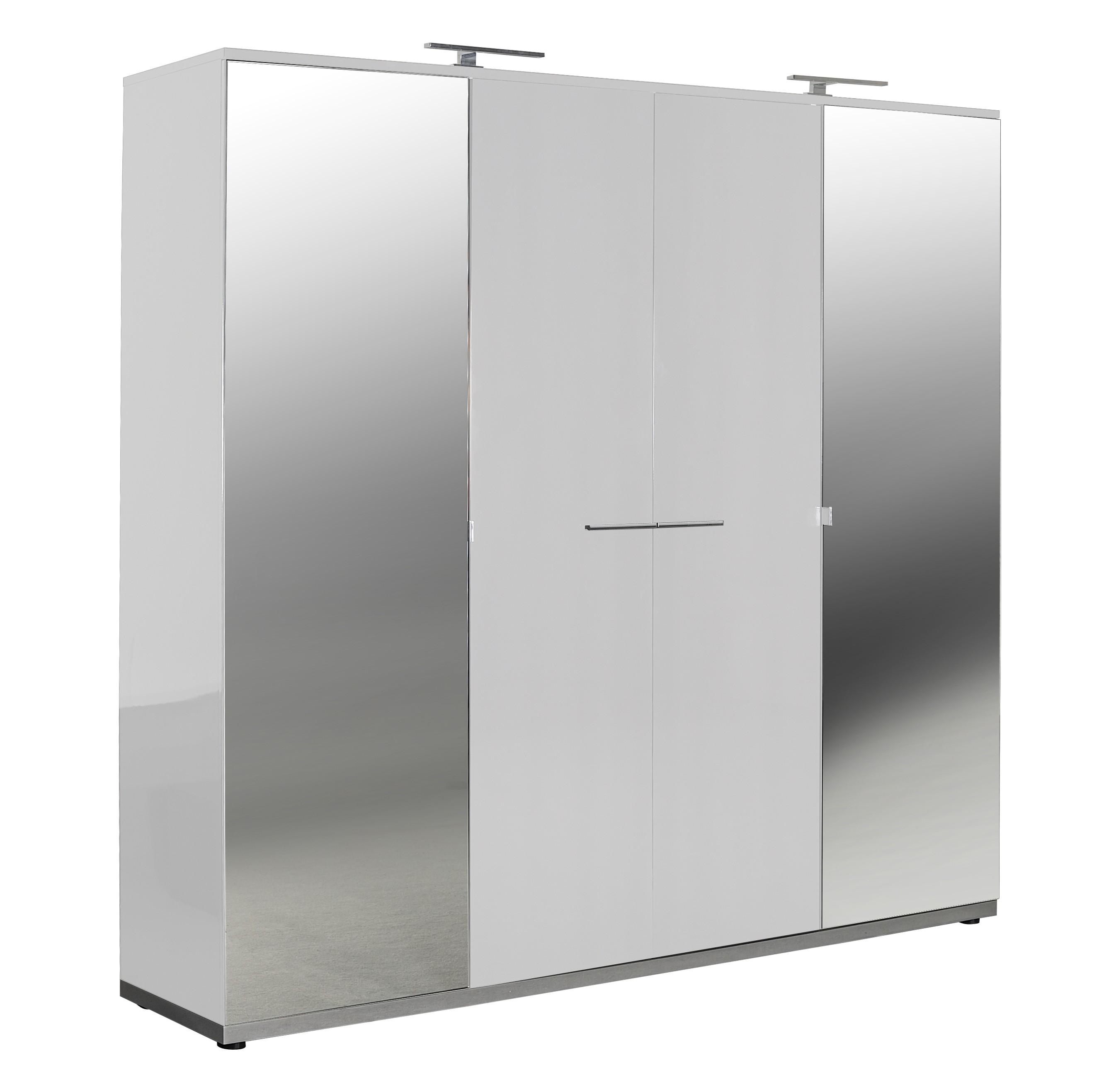 armoire design laqu e blanche 4 portes italya. Black Bedroom Furniture Sets. Home Design Ideas