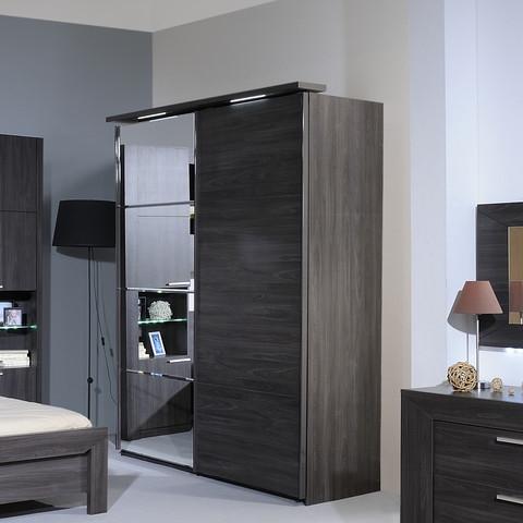 armoire 2 portes wengé carmona - lestendances.fr