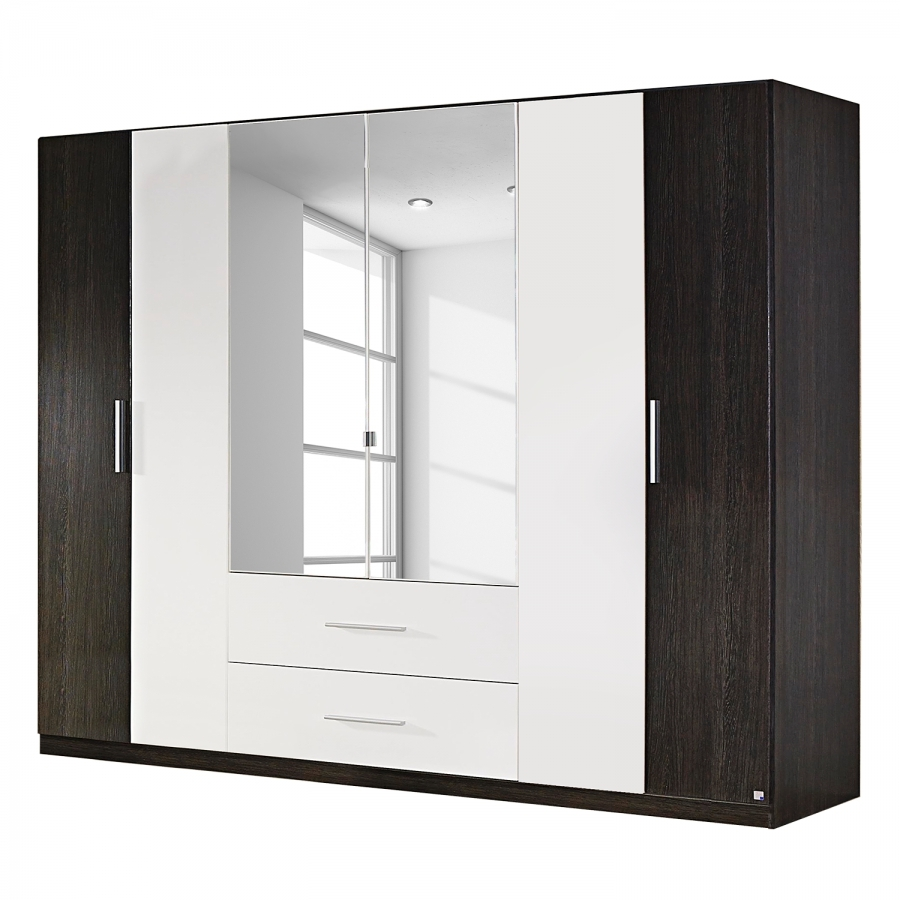 armoire weng shiraz et blanc baltas longueur 271 cm. Black Bedroom Furniture Sets. Home Design Ideas