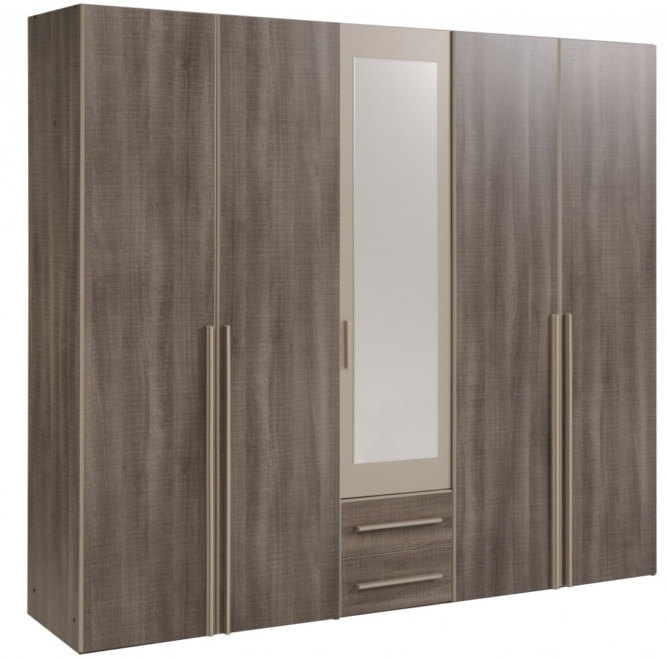 armoire 5 portes r glisse et mastic alexi. Black Bedroom Furniture Sets. Home Design Ideas