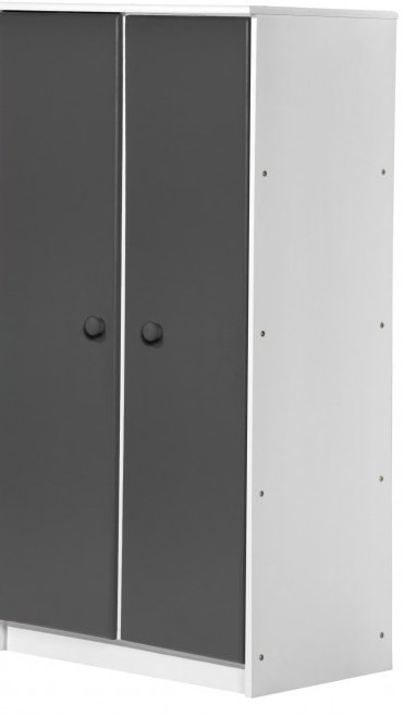 placard 2 portes pin massif blanc lasur et gris avola. Black Bedroom Furniture Sets. Home Design Ideas