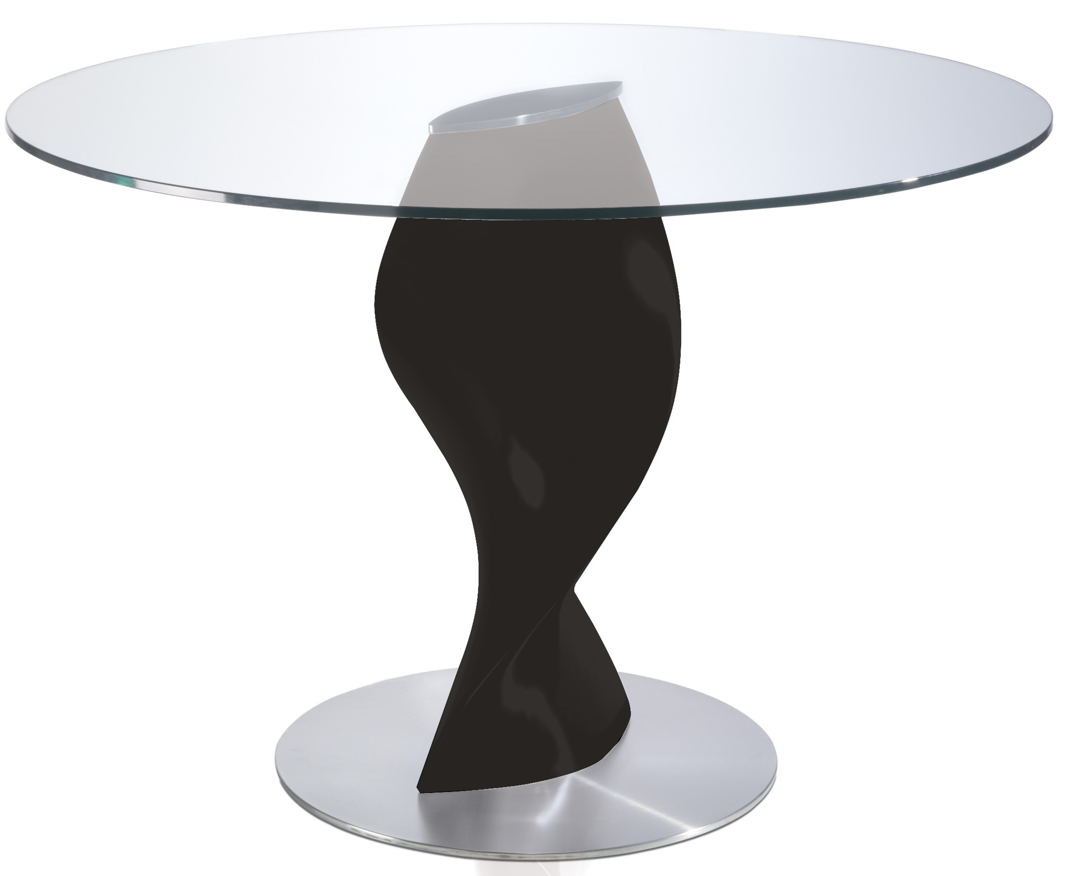 Table ronde laqu e noir en fibre de verre torsada - Dimension table ronde ...
