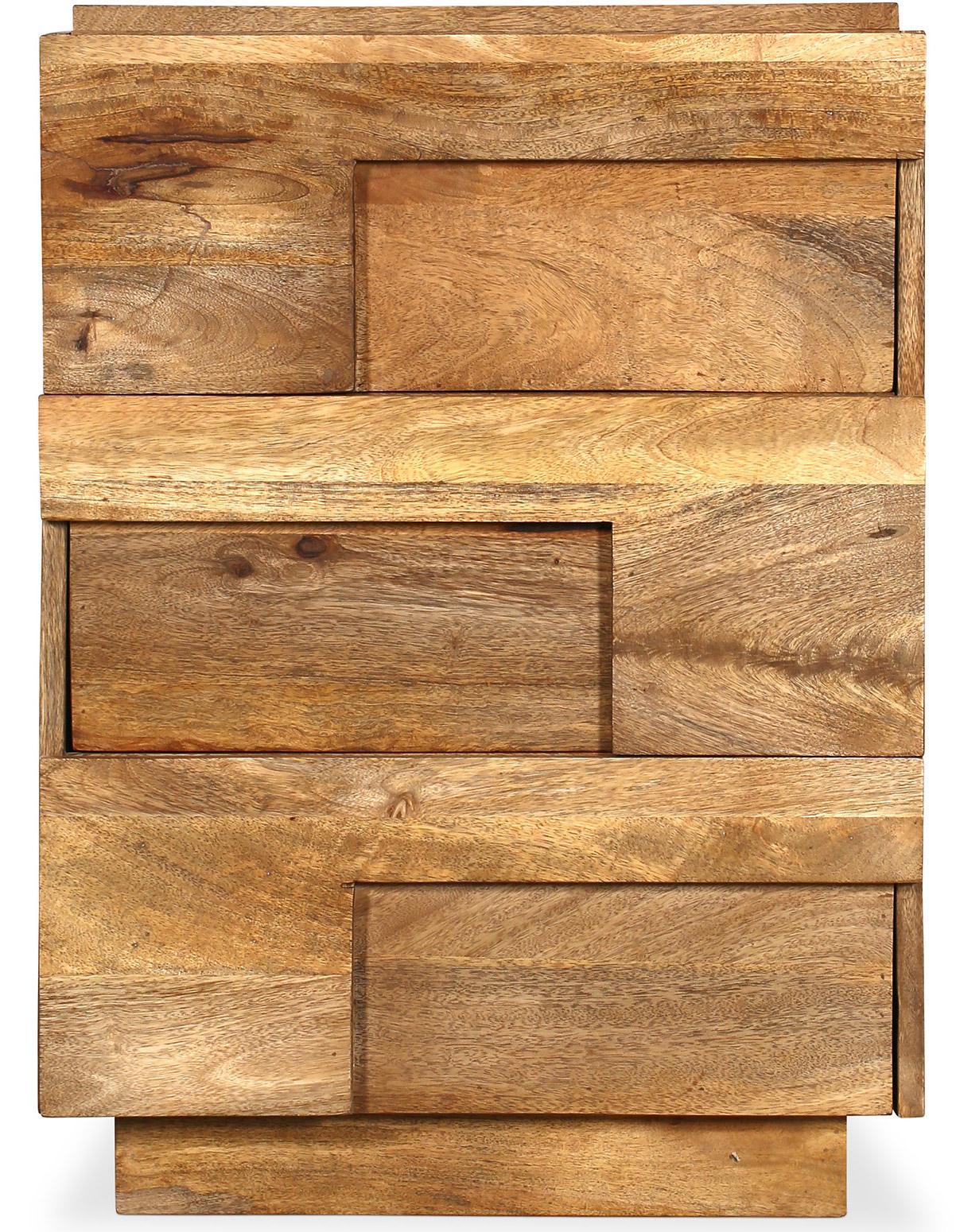 bahut 3 tiroirs bois de manguier thali. Black Bedroom Furniture Sets. Home Design Ideas
