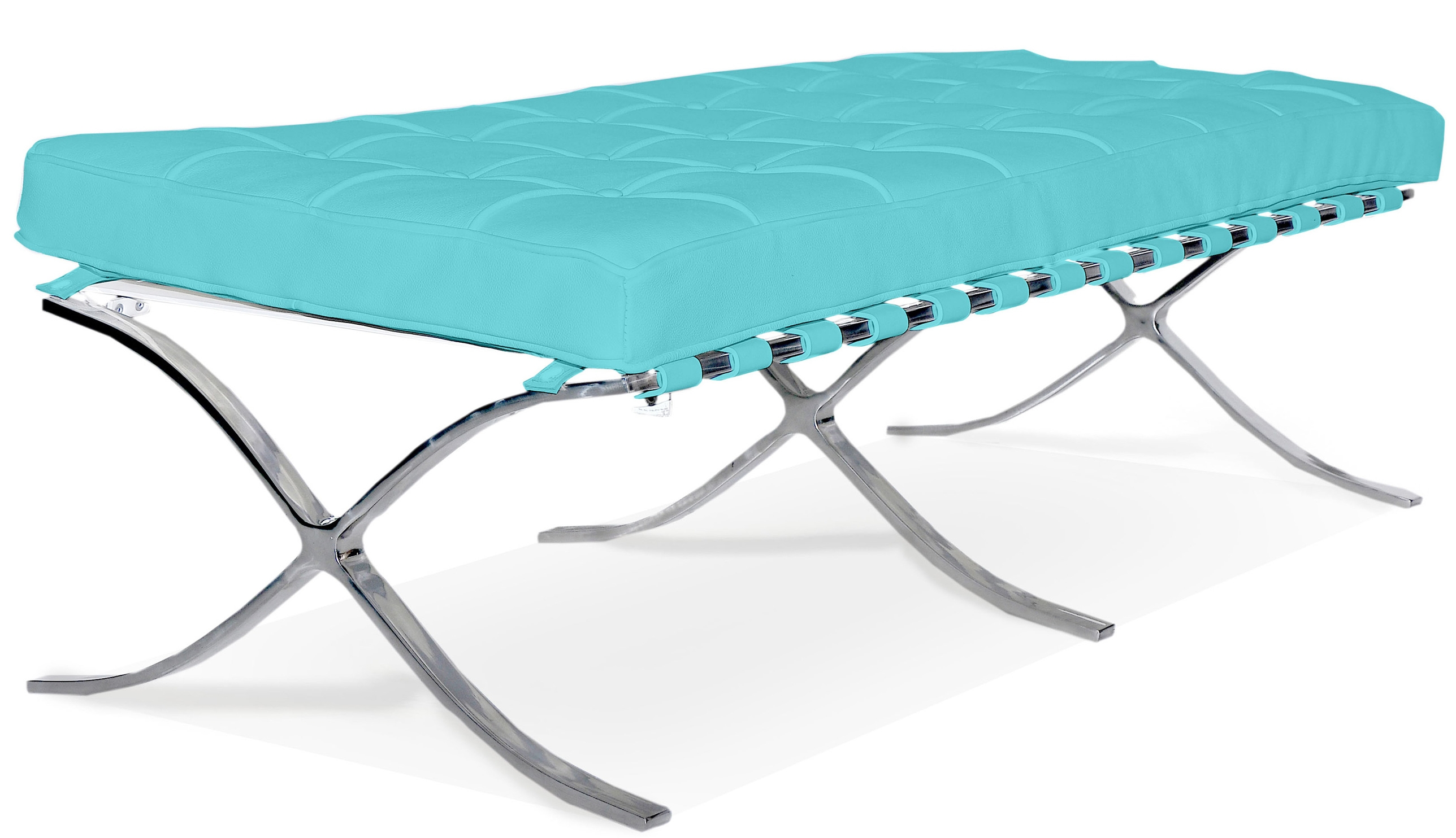 banc 2 places simili turquoise barca inspir ludwig mies van der rohe. Black Bedroom Furniture Sets. Home Design Ideas