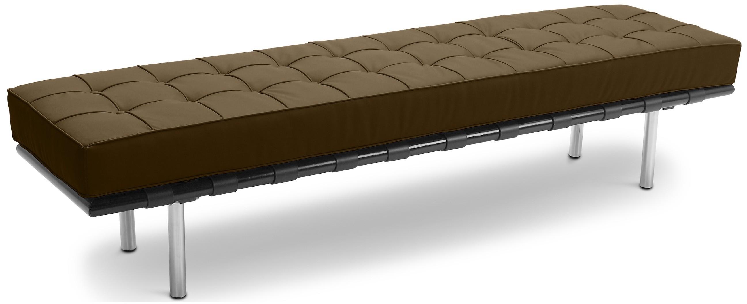 banc 3 places simili chocolat barca inspir ludwig mies van der rohe. Black Bedroom Furniture Sets. Home Design Ideas