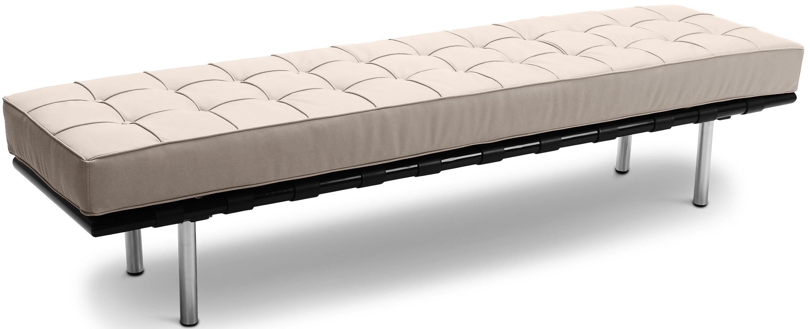 banc 3 places simili ivoire barca inspir ludwig mies van der rohe. Black Bedroom Furniture Sets. Home Design Ideas