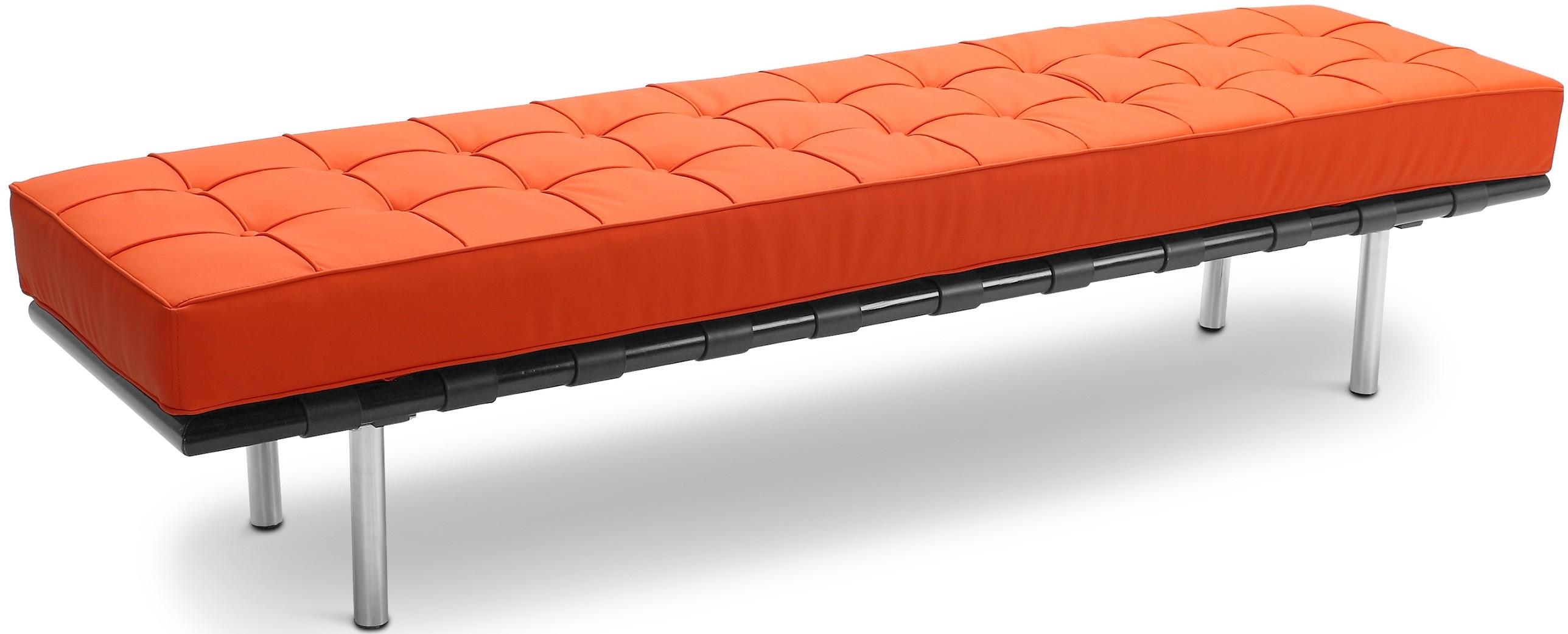 banc 3 places simili orange barca inspir ludwig mies van der rohe. Black Bedroom Furniture Sets. Home Design Ideas