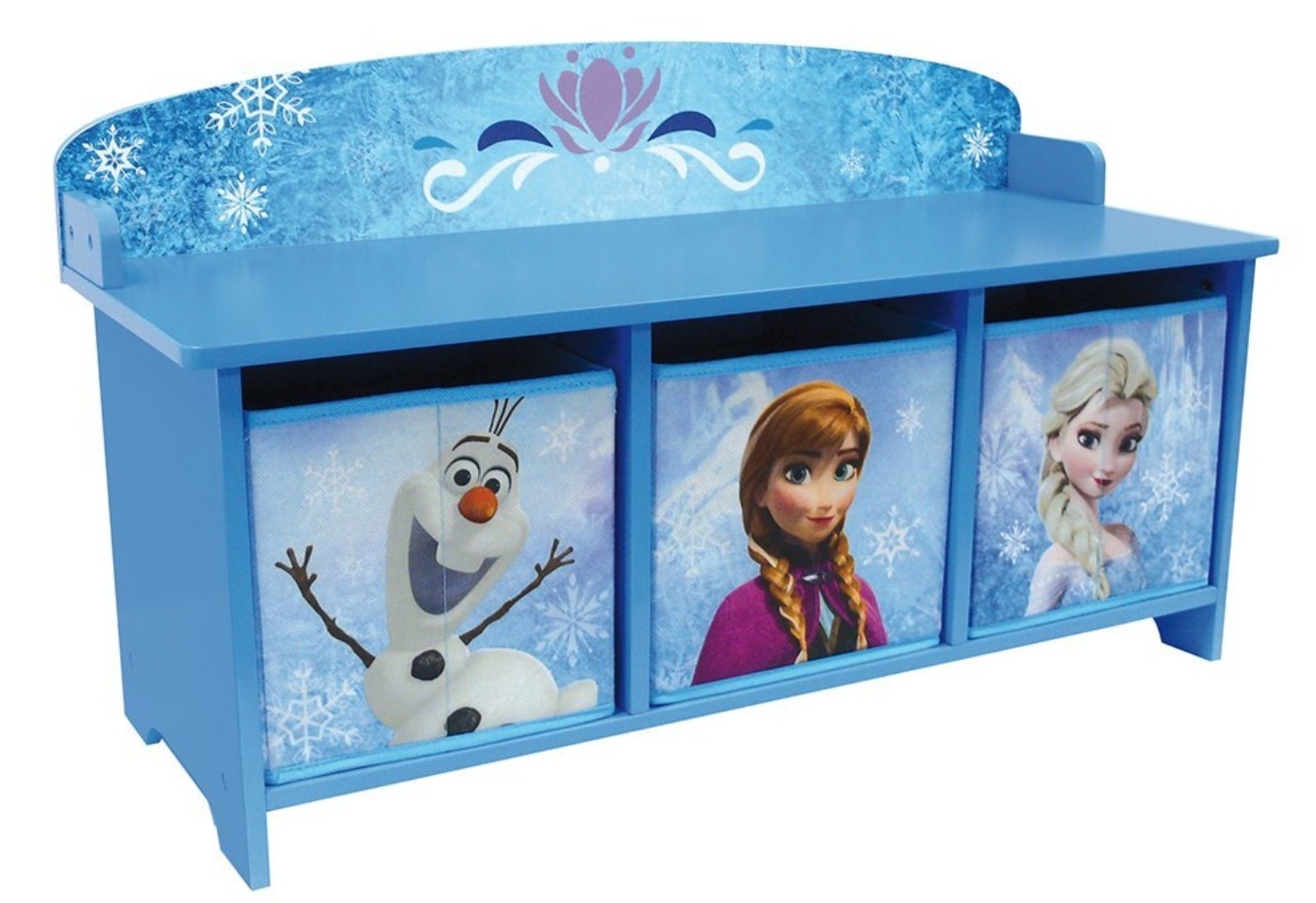 banc avec bacs de rangement reine des neiges. Black Bedroom Furniture Sets. Home Design Ideas