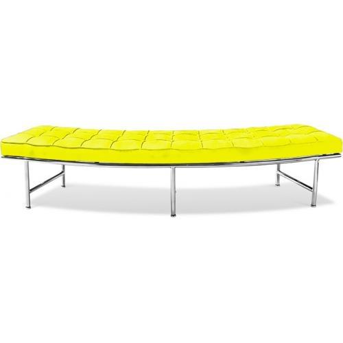 banc canap tissu jaune monaco. Black Bedroom Furniture Sets. Home Design Ideas