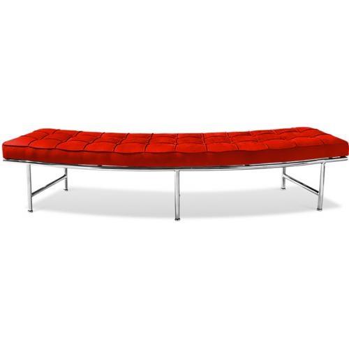 banc canap tissu rouge monaco. Black Bedroom Furniture Sets. Home Design Ideas