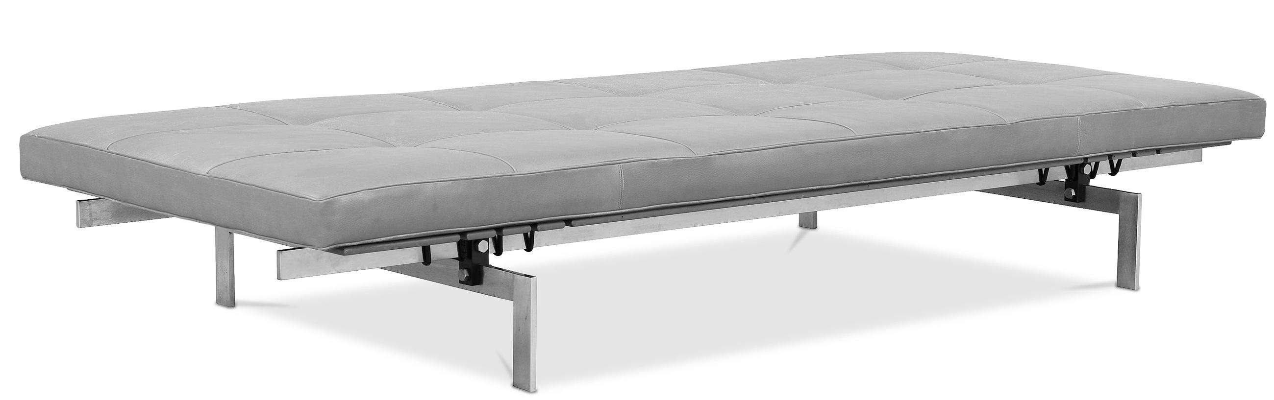 banc cuir gris barca. Black Bedroom Furniture Sets. Home Design Ideas