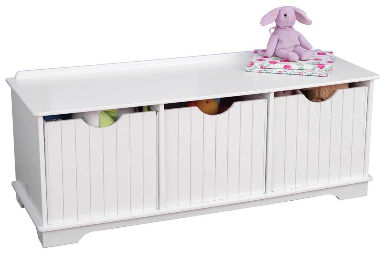 banc de rangement blanc kidkraft 14564. Black Bedroom Furniture Sets. Home Design Ideas