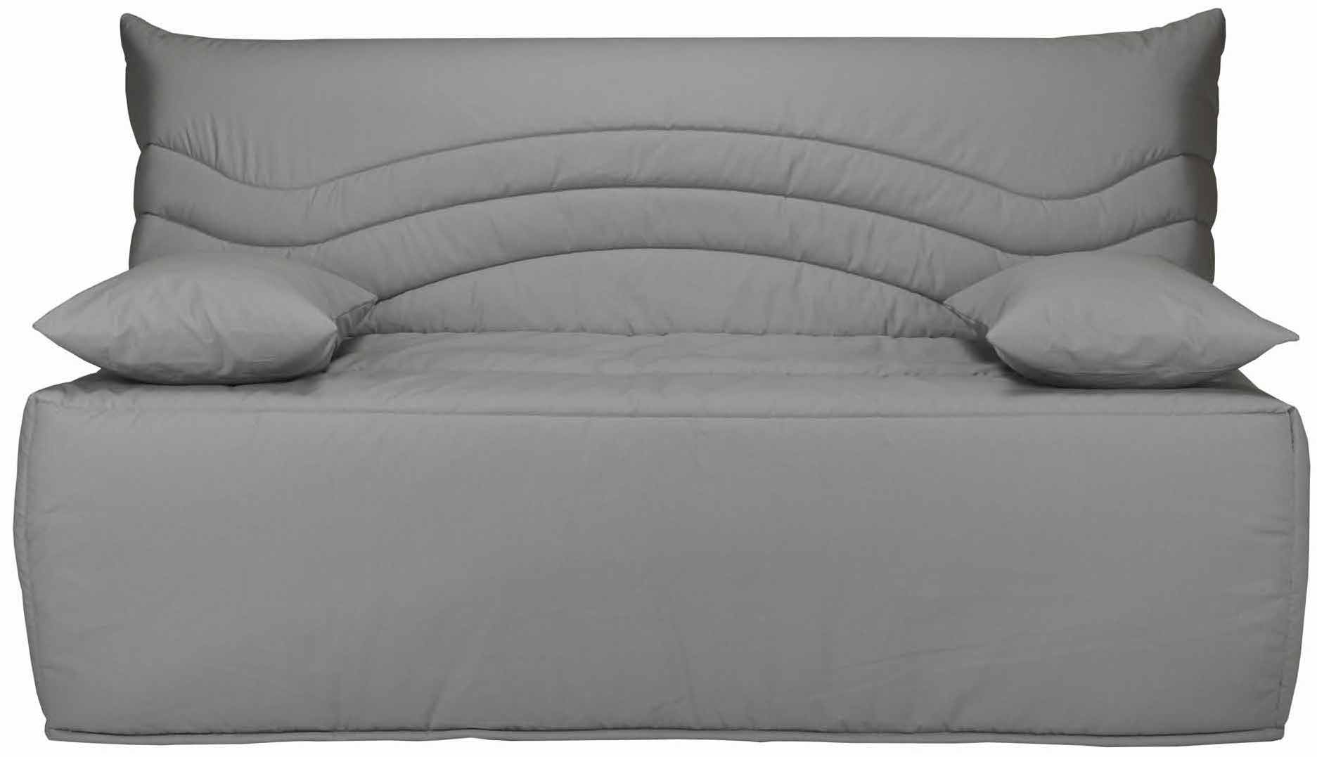 banquette bz gris 160 matelas sofaconfort 12 cm brioca. Black Bedroom Furniture Sets. Home Design Ideas