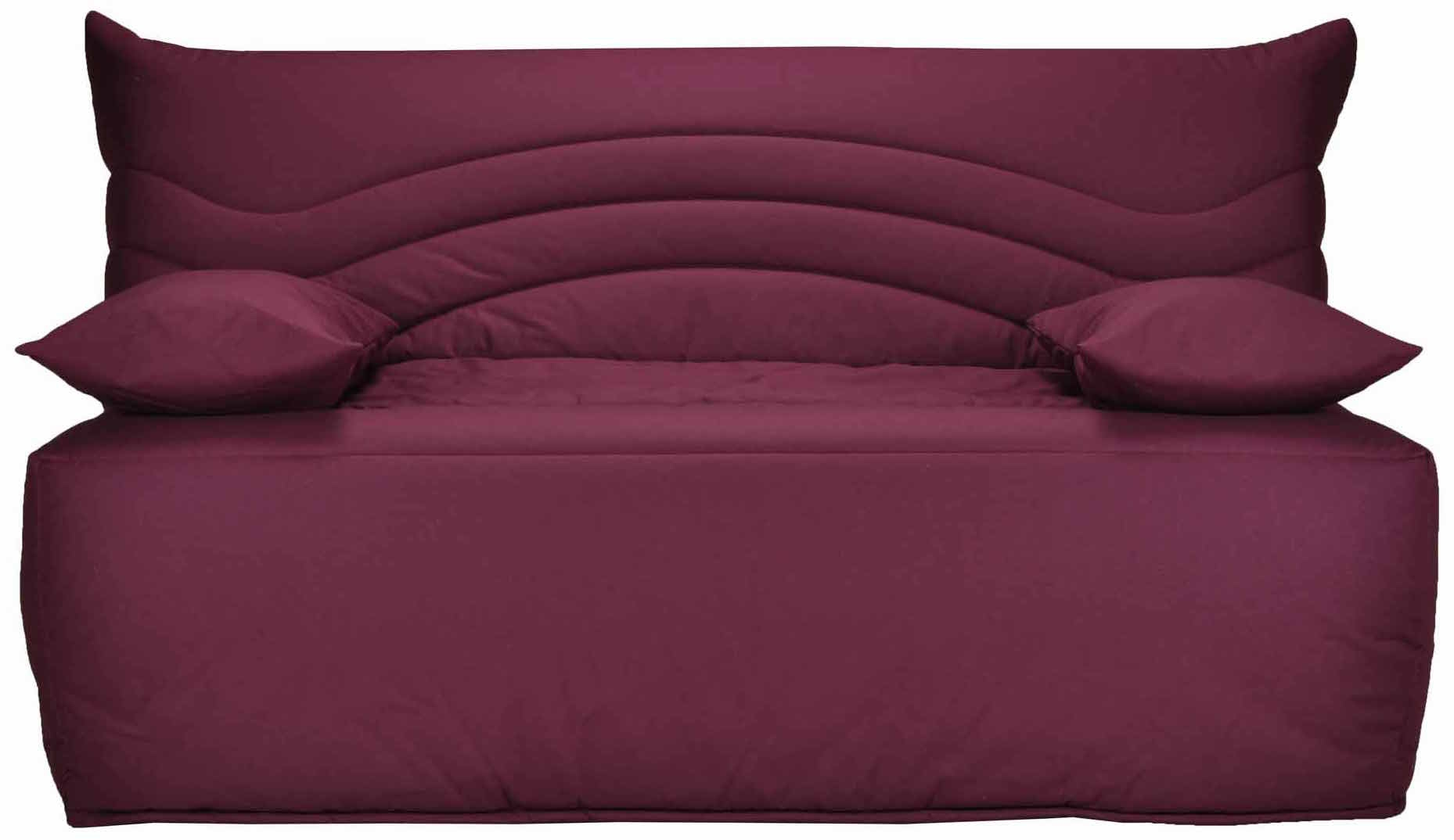 banquette bz prune 140 matelas sofaconfort 12 cm brioca. Black Bedroom Furniture Sets. Home Design Ideas