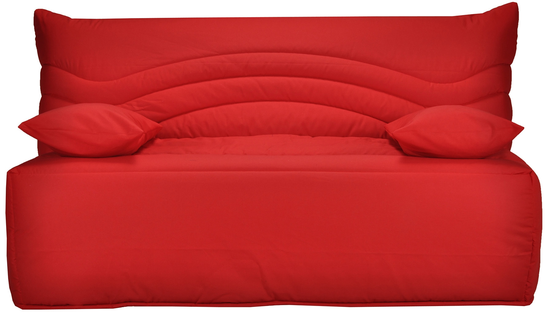 banquette bz rouge 140 matelas sofaconfort 12 cm brioca. Black Bedroom Furniture Sets. Home Design Ideas