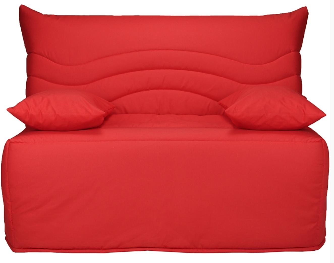 banquette bz rouge 160 matelas sofaconfort 12 cm brioca. Black Bedroom Furniture Sets. Home Design Ideas
