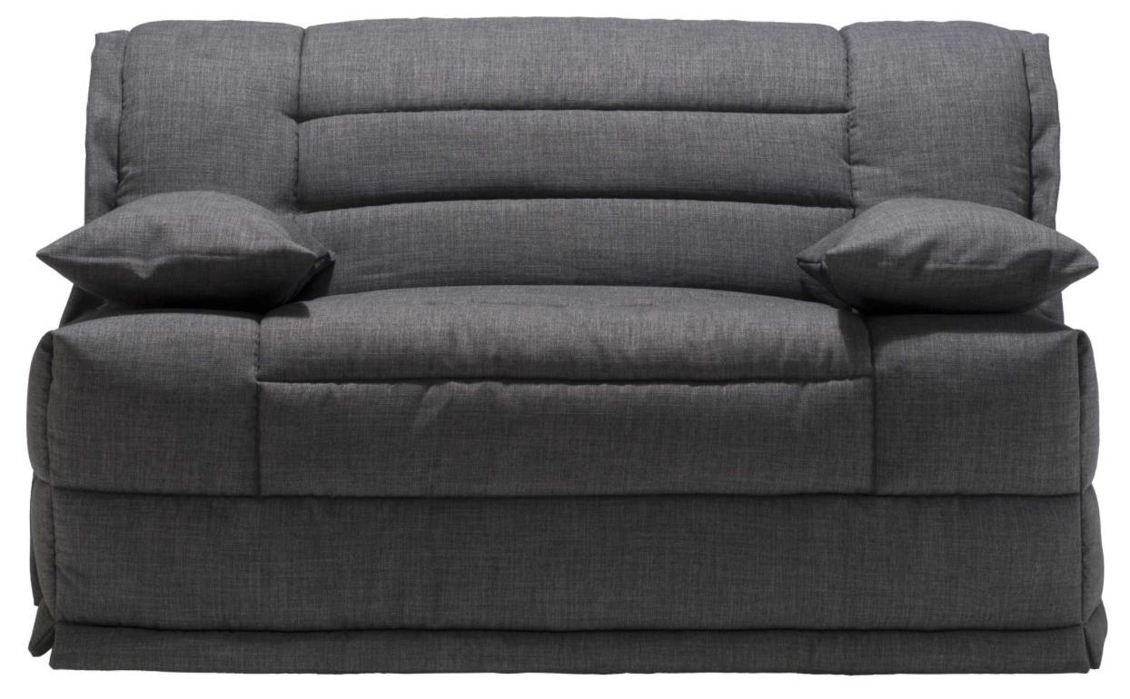 Banquette bz gris matelas sofaconfort 12 cm macapa mod le for Banquette bz