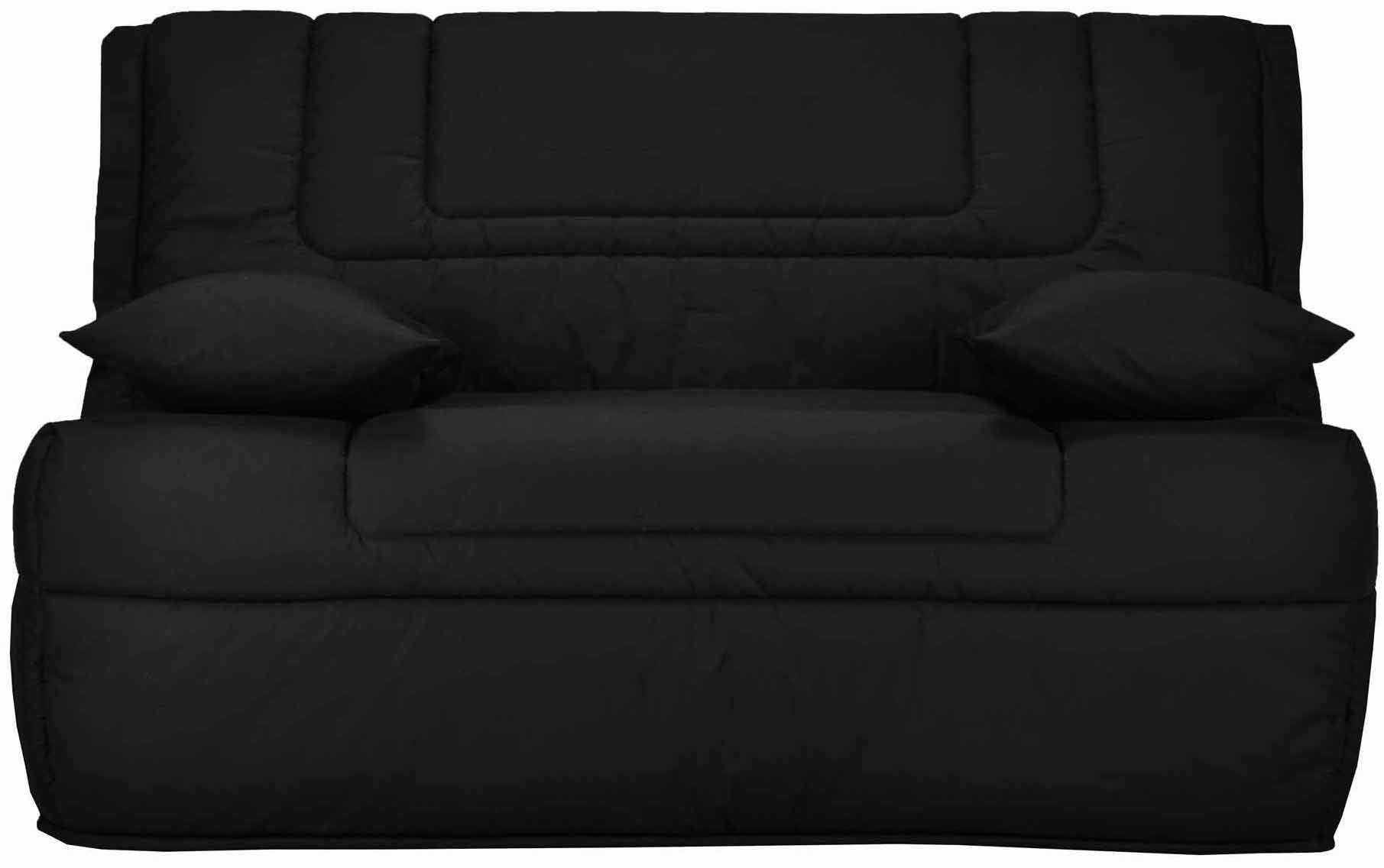 banquette bz noir 140 matelas 9 cm calamea. Black Bedroom Furniture Sets. Home Design Ideas