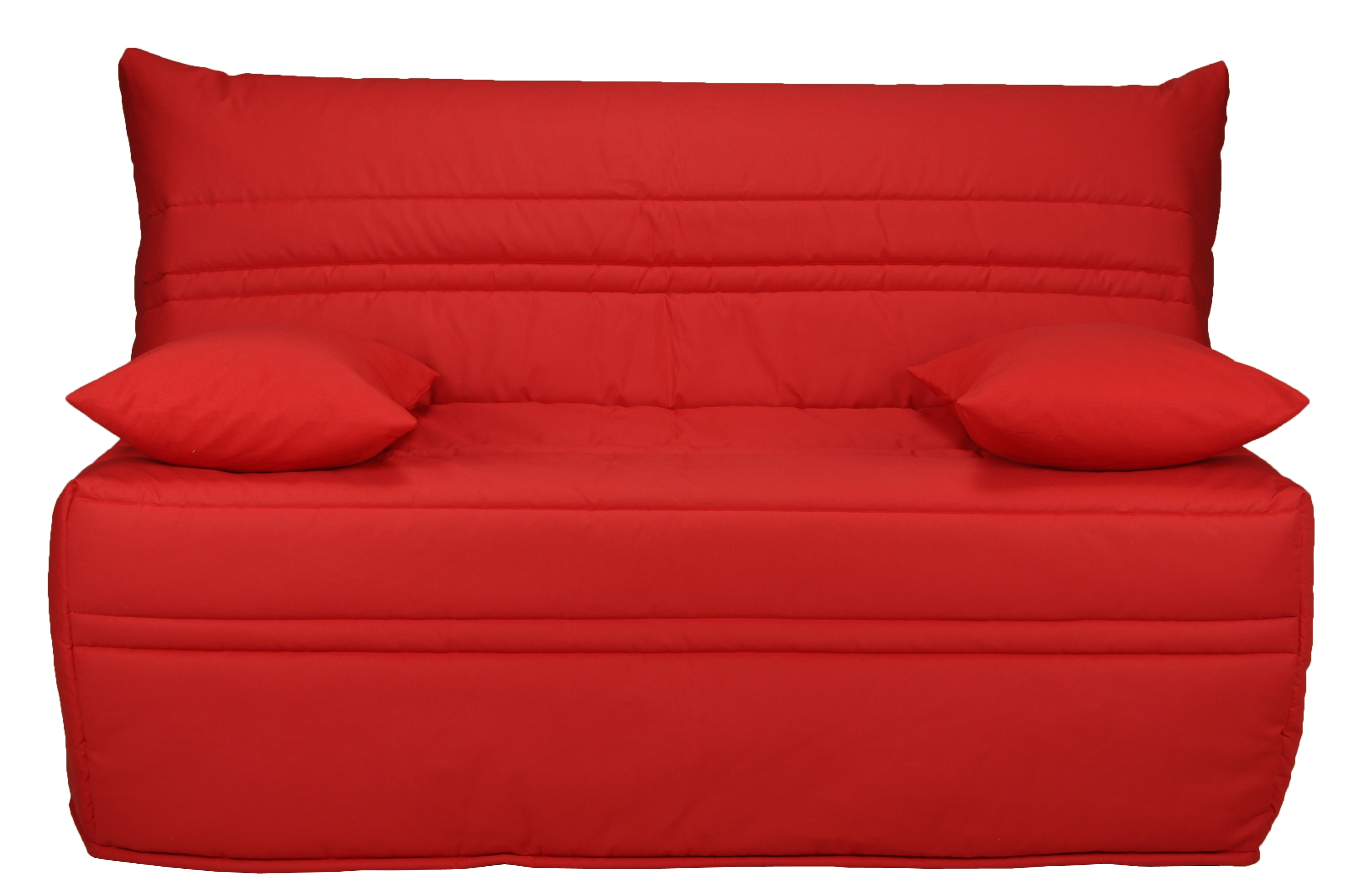 banquette bz rouge matelas sofaflex 9 cm christiana. Black Bedroom Furniture Sets. Home Design Ideas