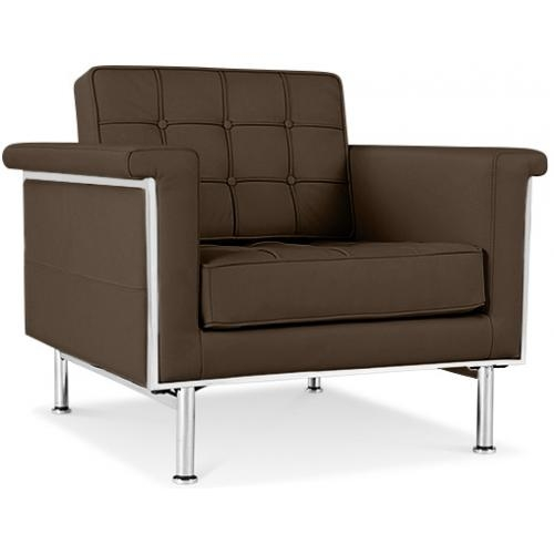 fauteuil matelass cuir marron madrid. Black Bedroom Furniture Sets. Home Design Ideas