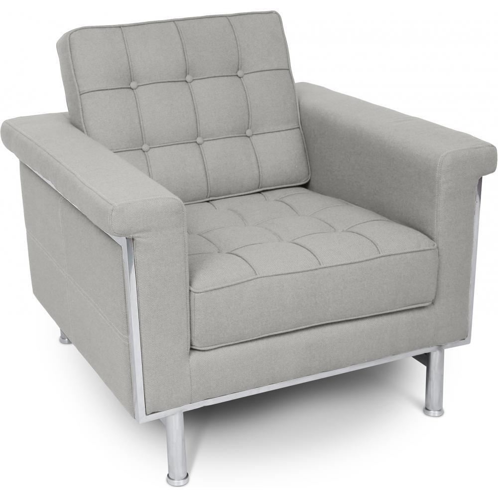 fauteuil matelass tissu gris clair madrid. Black Bedroom Furniture Sets. Home Design Ideas