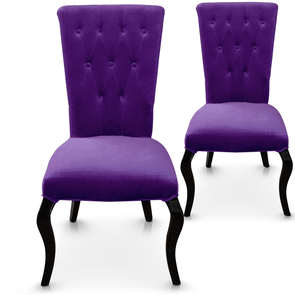 les tendances chaises en velours barocco violet. Black Bedroom Furniture Sets. Home Design Ideas