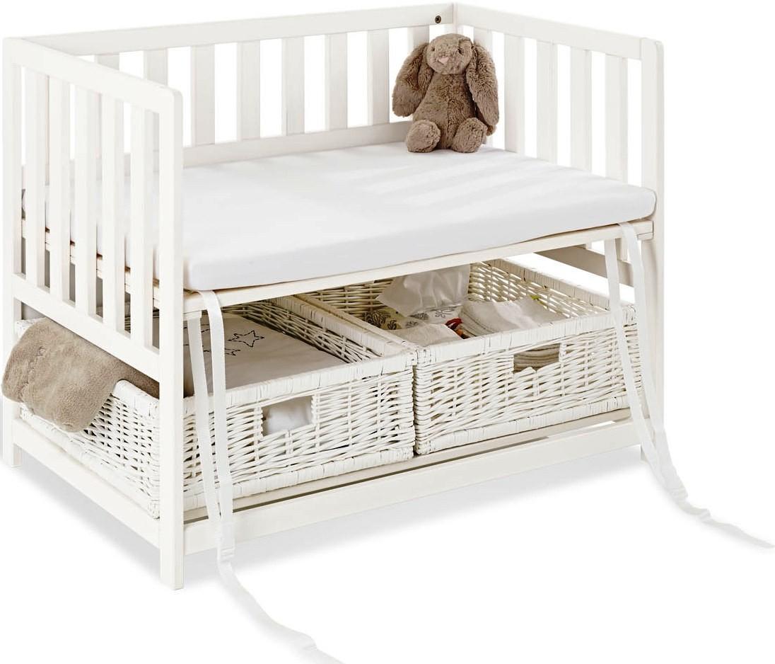 berceau volutif b b h tre blanc cododo janne 40. Black Bedroom Furniture Sets. Home Design Ideas