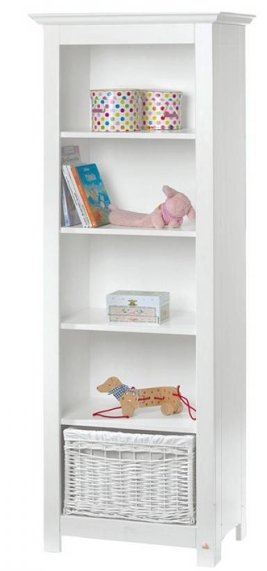 biblioth que pin massif blanc nina. Black Bedroom Furniture Sets. Home Design Ideas