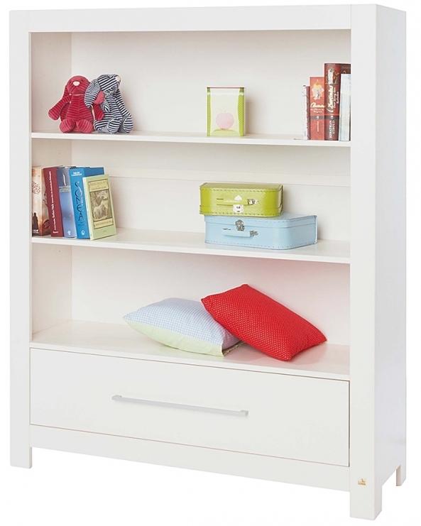 Biblioth que bois massif lasur blanc puro lestendancesfr for Chambre bebe en bois massif