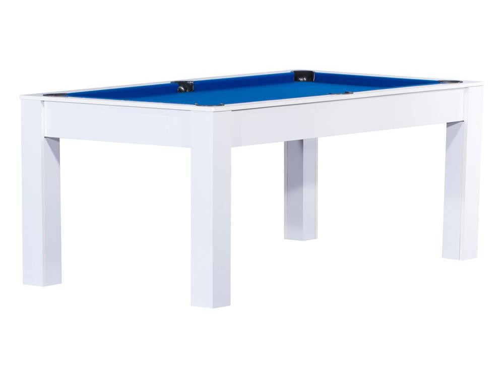 Billard blanc manhattan convertible en table manger for Table a manger convertible