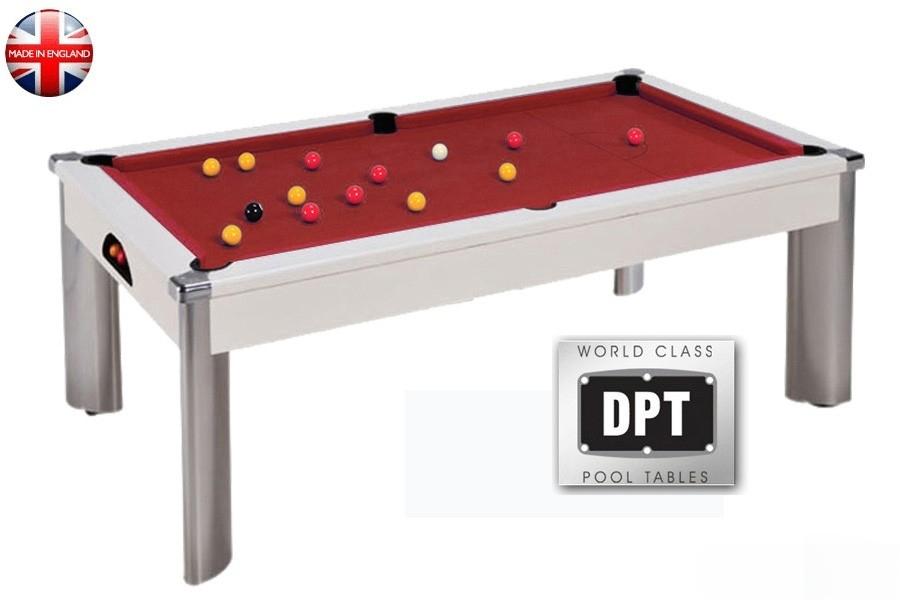 billard pool fusion 7ft blanc tapis rouge. Black Bedroom Furniture Sets. Home Design Ideas