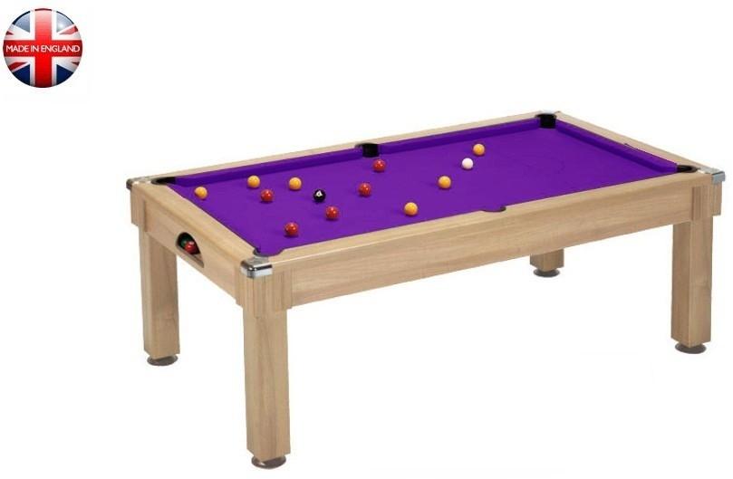 Billard Pool Windsor 7ft chêne clair tapis violet