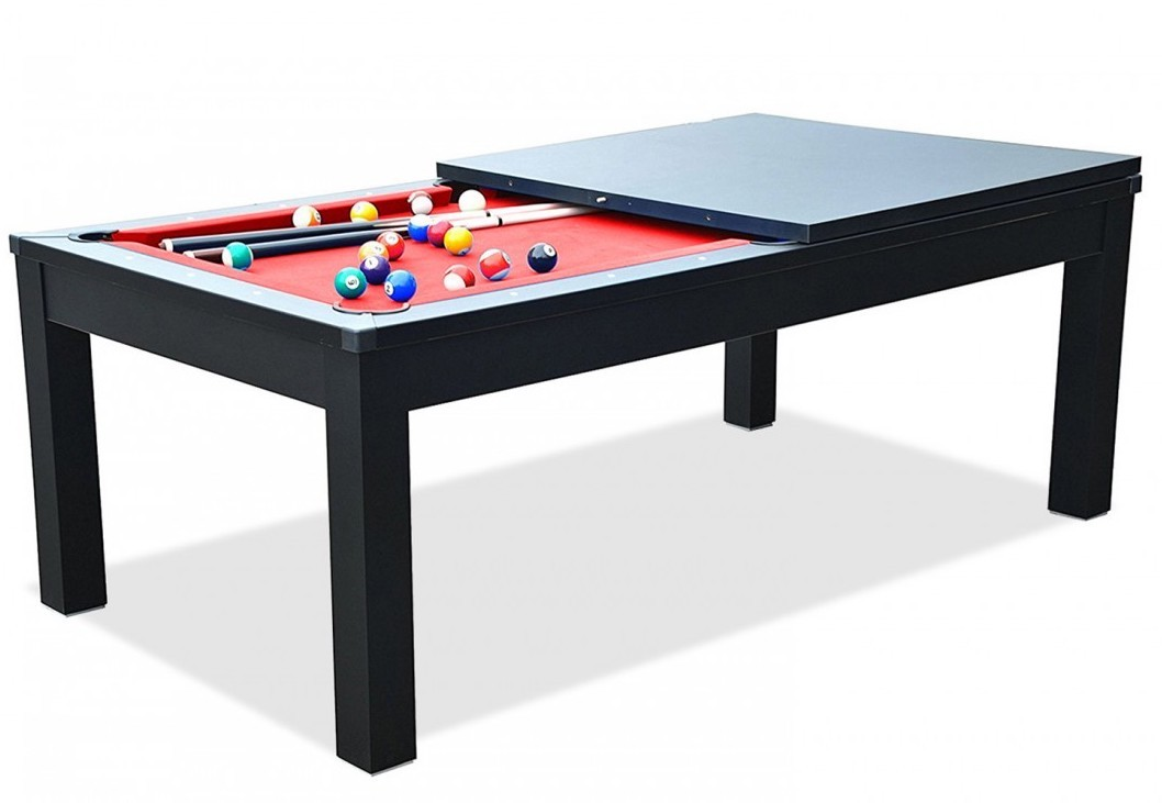 billard table manger noir sportank. Black Bedroom Furniture Sets. Home Design Ideas