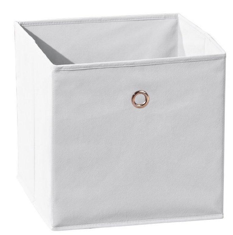Boîte de rangement pliable tissu blanc Peggy | LesTendances.fr