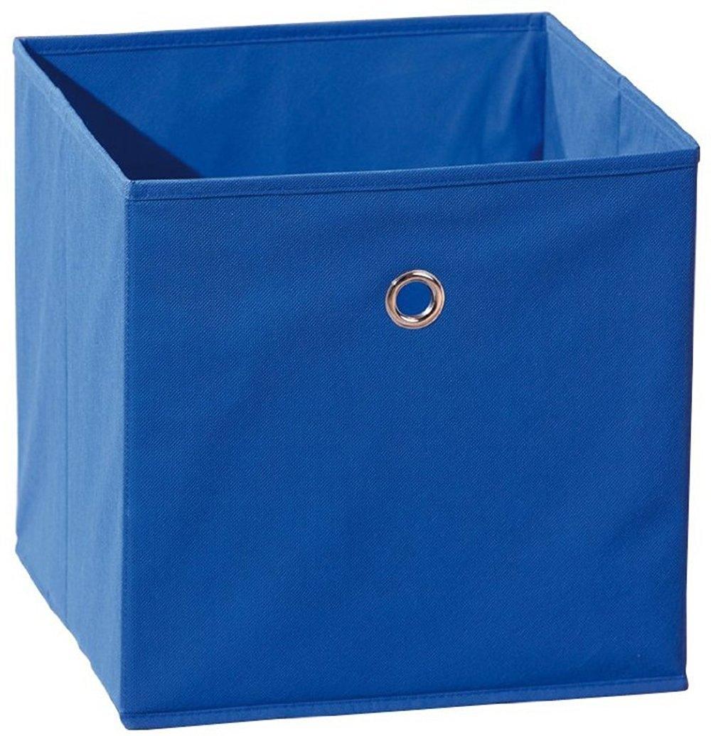 Boîte de rangement pliable tissu bleu Peggy | LesTendances.fr
