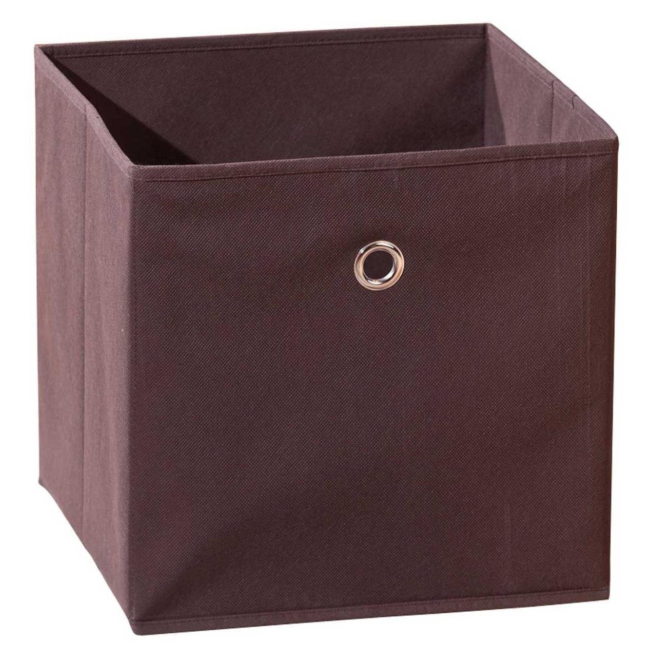 Boîte de rangement pliable tissu marron Peggy | LesTendances.fr