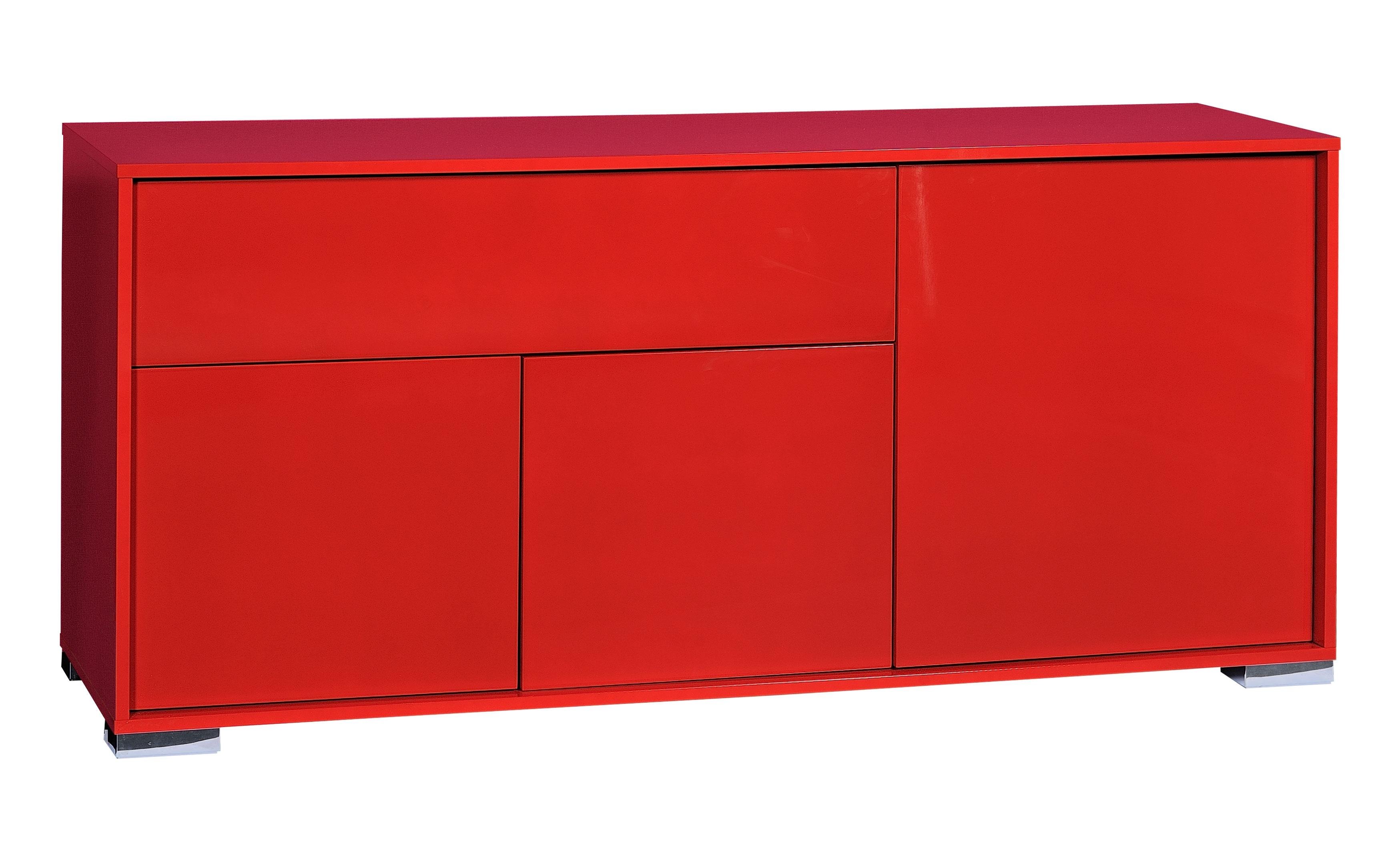 buffet 3 portes rouge brillant like. Black Bedroom Furniture Sets. Home Design Ideas